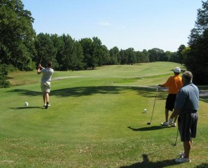 A tee box at Meadowbrook. (photo courtesy of Meadowbrook Country Club)