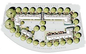 See Oliver Properties' site plan (PDF).