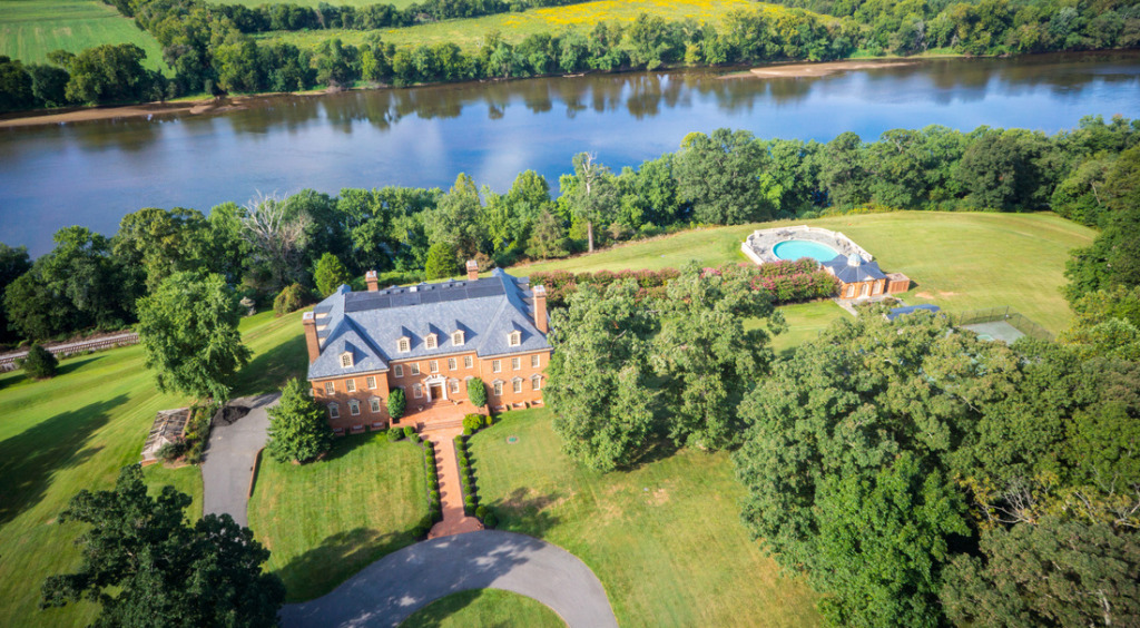A Goochland estate called River Run Manor is listed for sale. Photos courtesy of Joyner Fine Properties.
