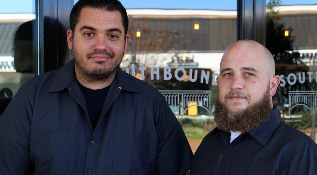 Sparrata (left) and Perkinson opened restaurant Southbound at Stony Point on Wednesday. Photos by Michael Thompson.