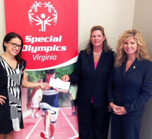 From left: Meghan Manning Massie, Director of Development for Special Olympics Virginia, Kelly A. Johnson, Assistant Vice President of Southern Bank and Trust Co. and Melinda J. Williams, AVP, Branch Manager of Old Point National Bank.