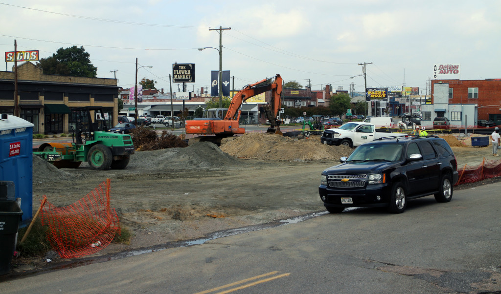 Construction is underway on Boulevard. Photos by Michael Thompson.