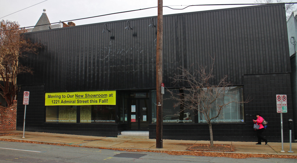 VCU has bought the building at 9 W. Cary St. that used to house a drapery store. Photos by Katie Demeria.