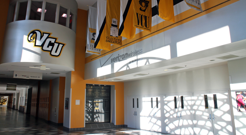 VCU's Siegel Center will be packed for the men's basketball game against UVA next weekend. Photo by Evelyn Rupert.