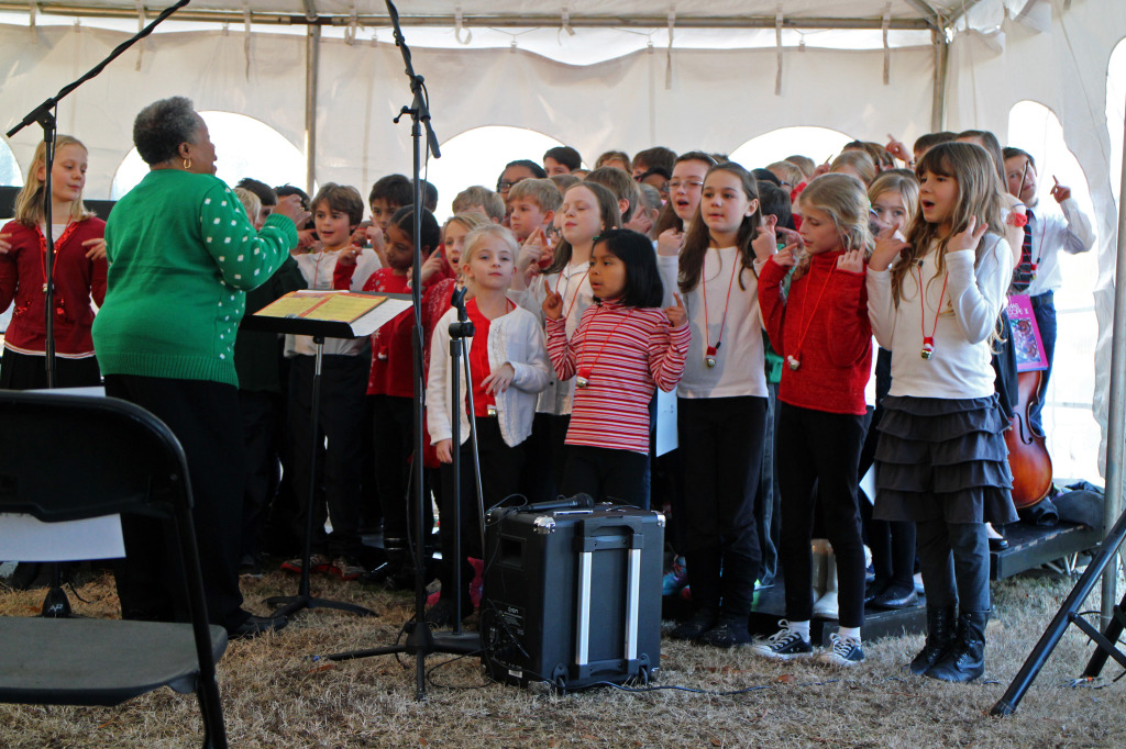 The Mary Munford Elementary School Ensemble performs at Thursday's groundbreaking of the Virginia Childrens Photos by Katie Demeria.