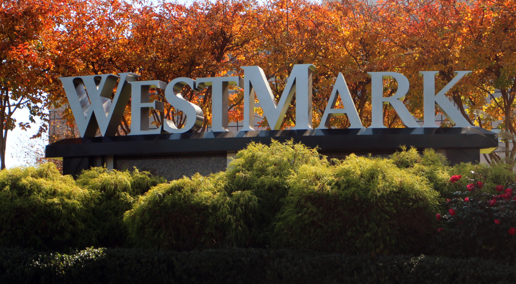 A major bank is vacating its West Broad Street office at WestMark. Photo by Burl Rolett.